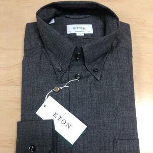 Eton Grey Flannel Button down